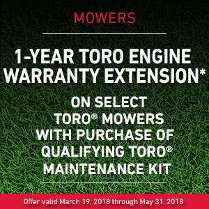 1-Year Toro Engine Warranty Extension with Qualifying Purchase of Toro Maintenance Kit