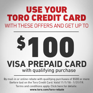 Use Your Toro Credit Card And Get Up To 100 Visa Prepaid