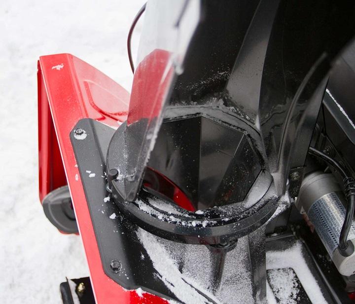 SnowMaster Beveled Chute Design