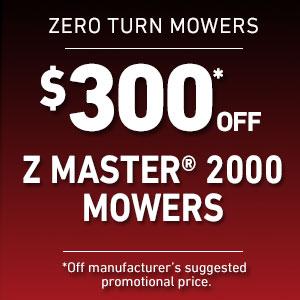Dollars Off Z Master 2000 Mowers
