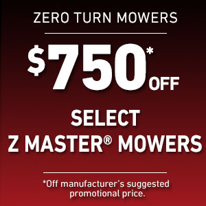 Dollars Off Select Z Master Mowers