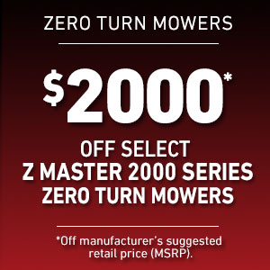 Dollars Off Select Z Master 2000 Mowers