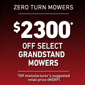Dollars Off Select GrandStand Mowers