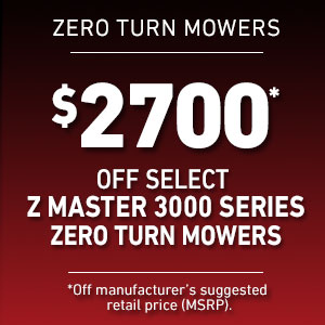 Dollars Off Select Z Master 3000 Mowers