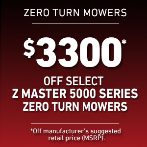 Dollars Off Select Z Master 5000 Mowers