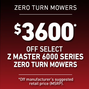 Dollars Off Select Z Master 6000 Mowers