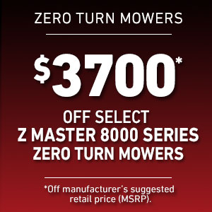 Dollars Off Select Z Master 8000 Mowers