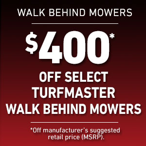 Dollars Off Select TurfMaster Mowers