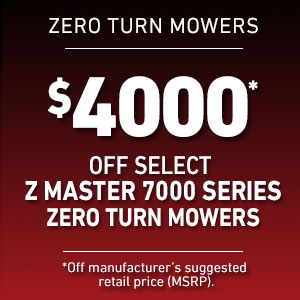 Dollars Off Select Z Master 7000 Mowers