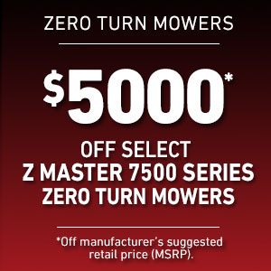 Dollars Off Select Z Master 7500 Mowers