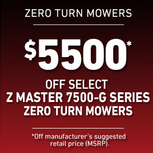 Dollars Off Select Z Master 7500-Gas Mowers