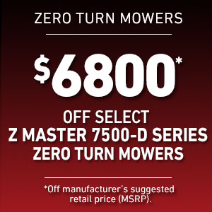 Dollars Off Select Z Master 7500-Diesel Mowers