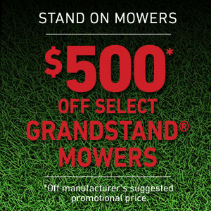 Dollars Off GrandStand Mowers