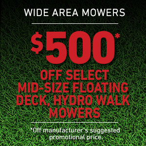 Dollars Off Mid-size Floating Deck Hydro Mowers