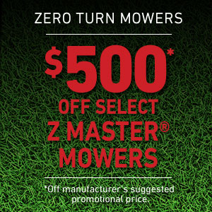 Dollars Off Z Master Mowers