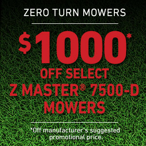 Dollars Off Z Master 7500-D Series Mowers