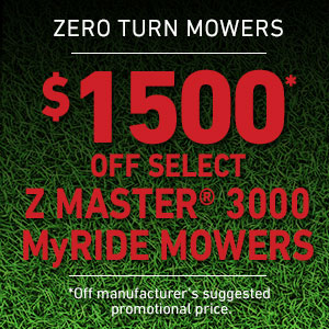 Dollars Off Z Master 3000 Series MyRIDE Mowers