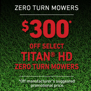 Dollars Off TITAN HD Mowers