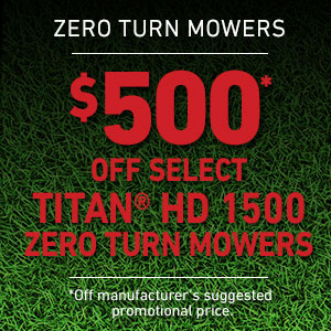 Dollars Off TITAN HD 1500 Series Mowers