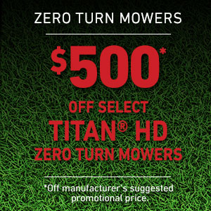 Dollars Off TITAN HD Mowers