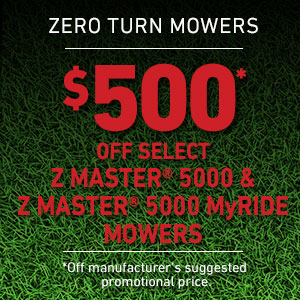 Dollars Off Z Master 5000 Series and Z Master 5000 Series MyRIDE Mowers
