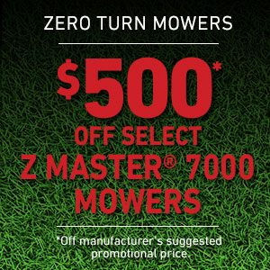Dollars Off Z Master 7000 Series Mowers