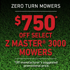 Dollars Off Z Master 3000 Series Mowers