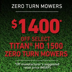 Dollars Off Select TITAN HD 1500 Mowers