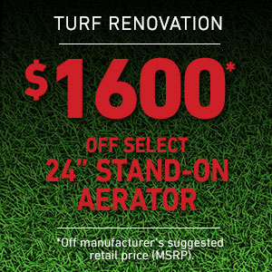 Dollars Off Select 24 inch Stand-On Aerator