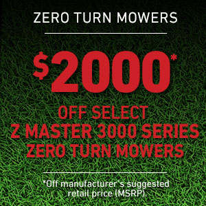 Dollars Off Z Master 3000 Series Mowers