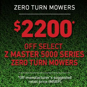 Dollars Off Z Master 5000 Series Mowers