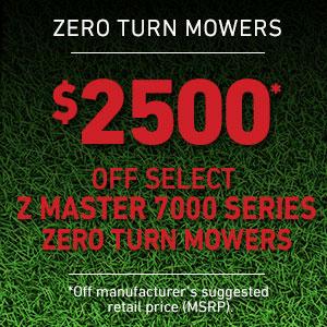 Dollars Off Z Master 7000 Series Mowers