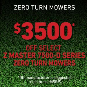 Dollars Off Z Master 7500-D Series Mowers