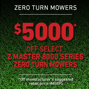 Dollars Off Z Master 8000 Series Mowers