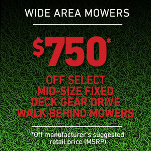 Dollars Off Mid-Size Fixed Deck Gear Drive Mowers
