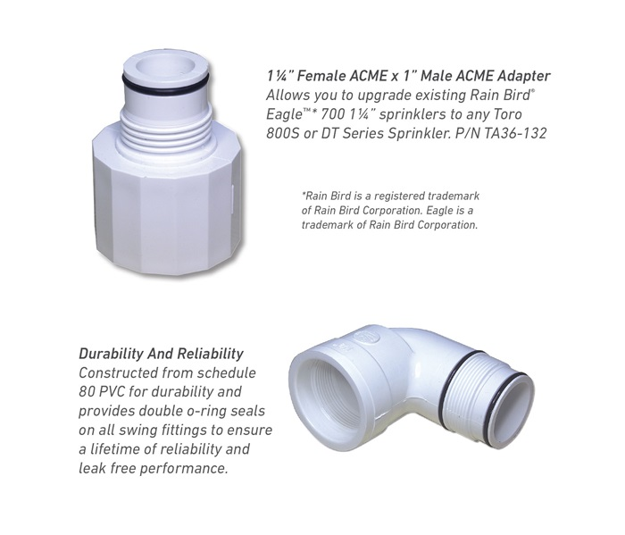Female and Male ACME adapters