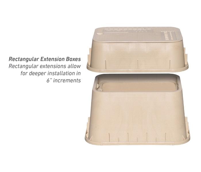 Rectangular Extension Valve Boxes