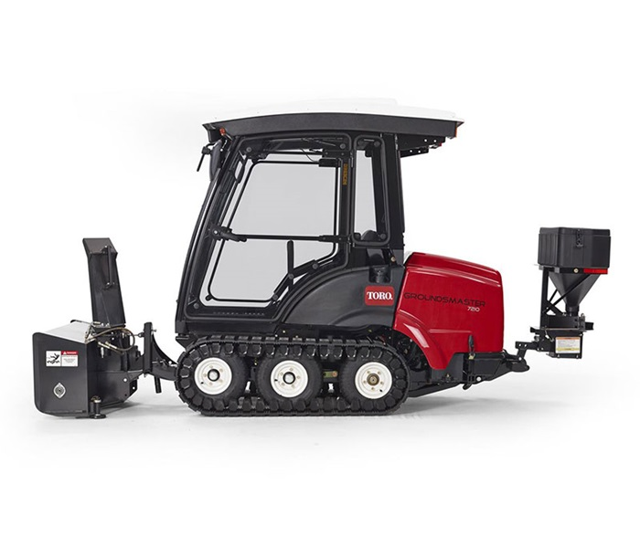 Toro groundsmaster 72007210 polar trac system groundsmaster 7210 snowthrower attachment with spreader left sciox Image collections