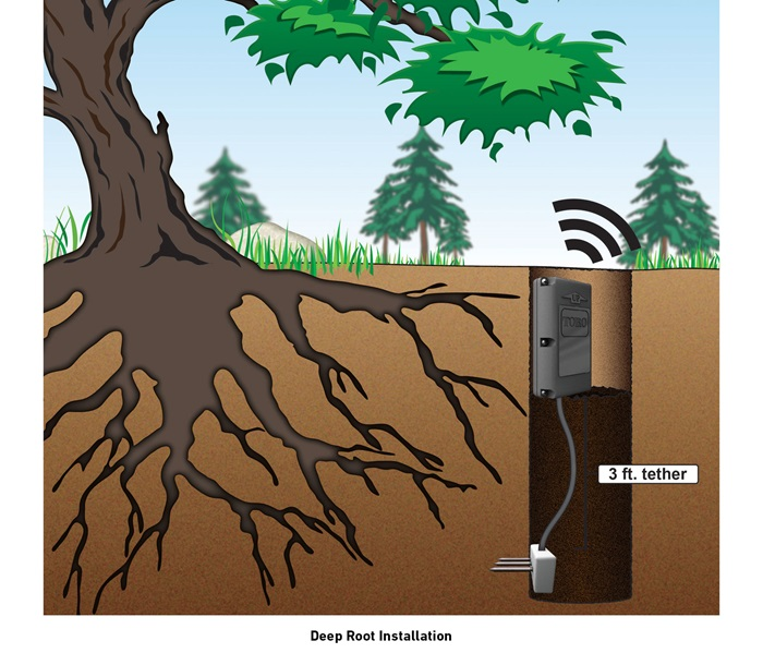 Pro Series Soil Sensor Deep Root Installation