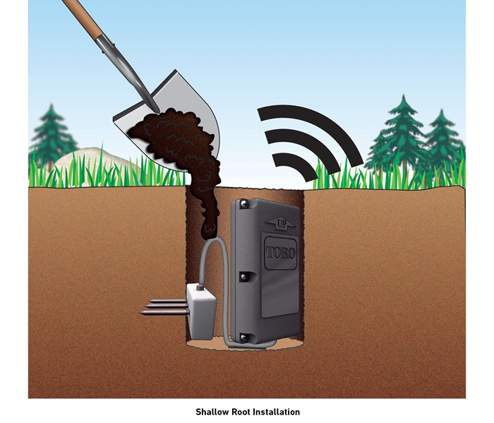 Pro Series Soil Sensor Shallow Root Installation