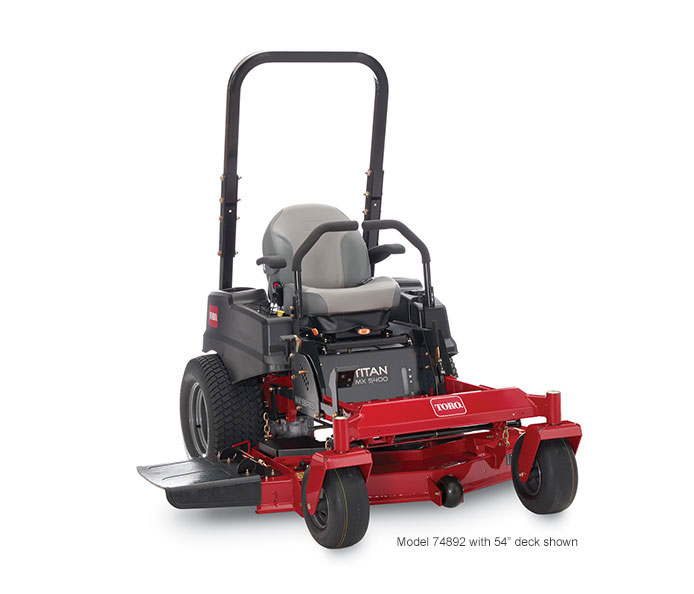 model 74891 titan mx4800 zero turn mower