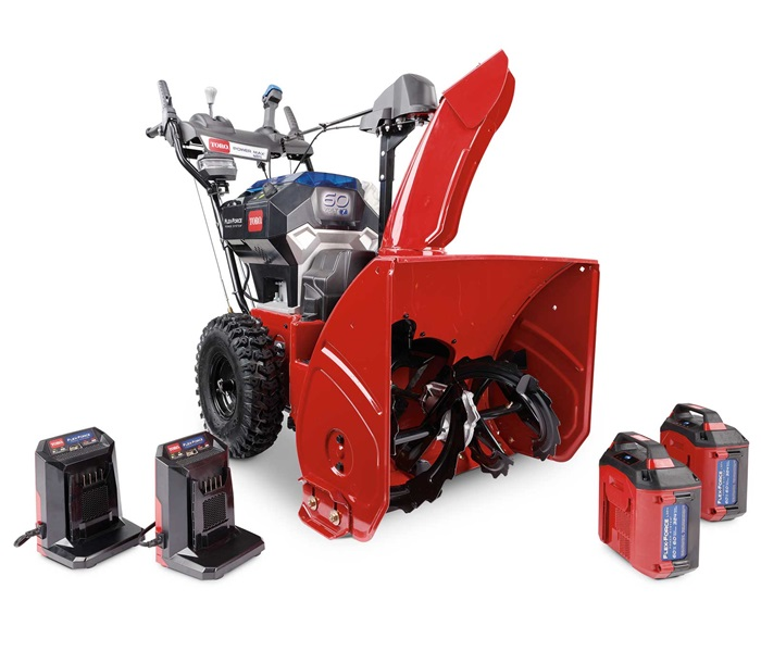"""24"""" (61 cm) 60V MAX* (2 x 6.0 ah) Electric Battery Power Max® e24 Two-Stage Snow Blower (39924)"""