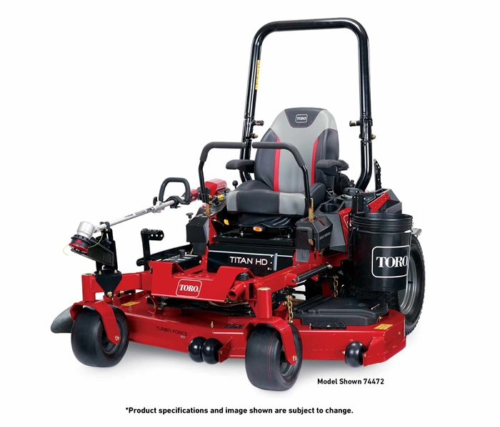 Toro Titan HD 2500 with attachments