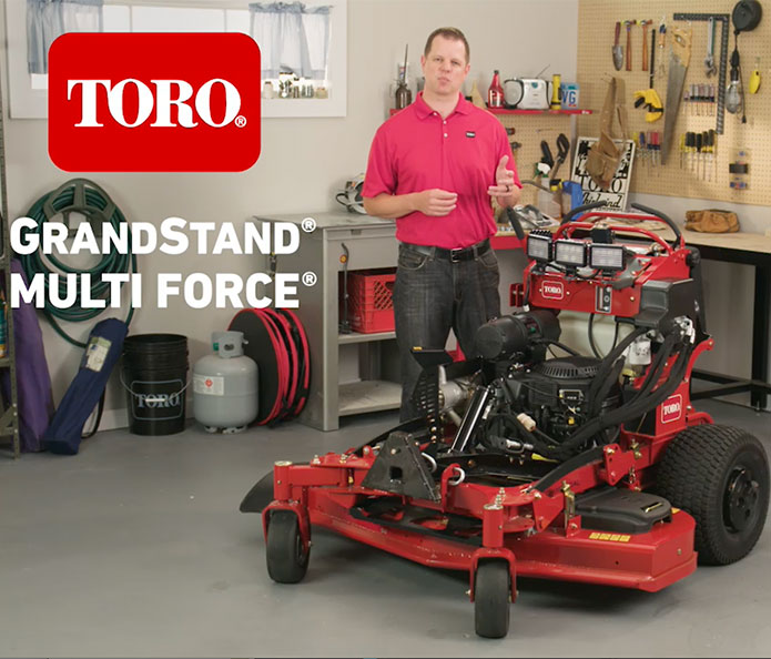 Toro GrandStand Multi Force® product walk-around