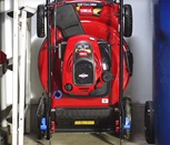 Compact Storage Lawn Mower -- Toro Recycler with SmartStow