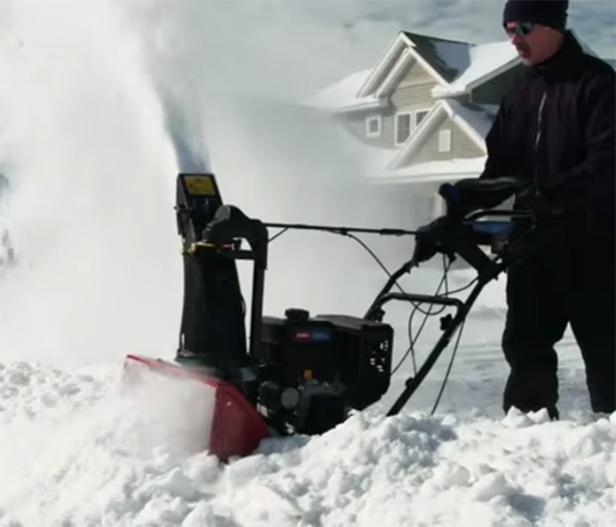 New Toro® SnowMaster™ Snowblower - Revolutionary Design