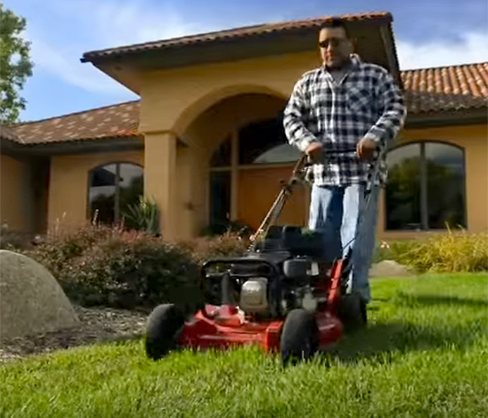 "Heavy-duty 21"" commercial walk behind mower"