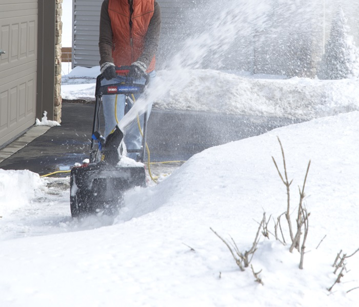 Put Snow Where You Want It with the Toro 1800 Power Curve's Locking Deflector