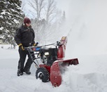 Get night vision with the Toro Power Max HD two-stage snow blower.