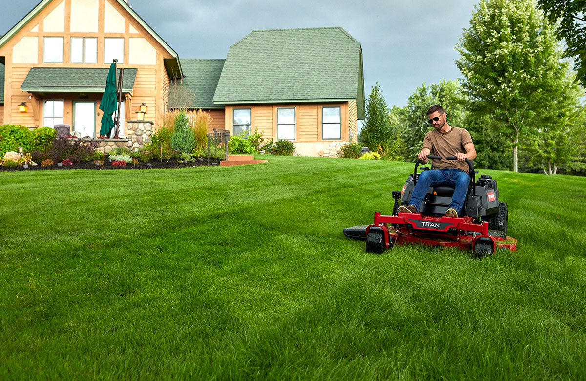 Toro riding lawn mowers, push mowers, and yard tools